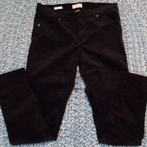 Loft skinny black velvet like skinny sz 6 euc